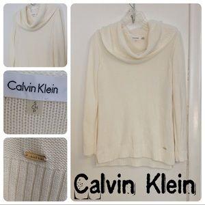 Calvin Klein Cream Knit Cowl Neck Sweater